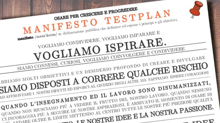 Il manifesto di Testplan